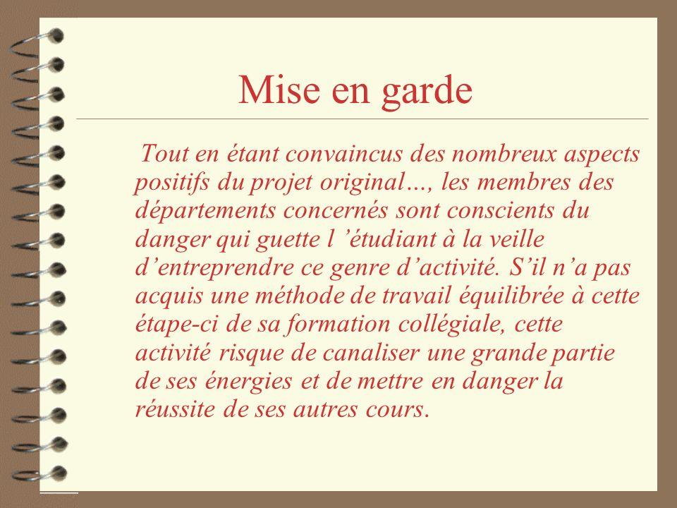 10/15/98 Mise en garde.