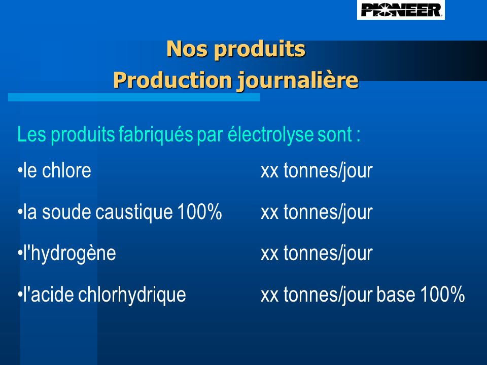 Production journalière