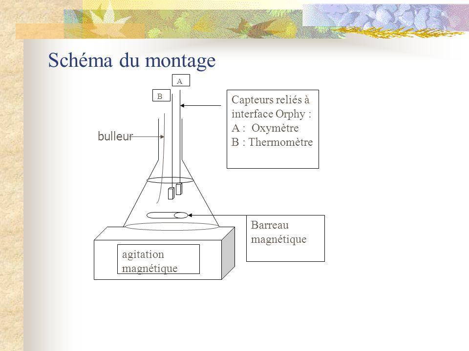 Schéma du montage Capteurs reliés à interface Orphy : A : Oxymètre