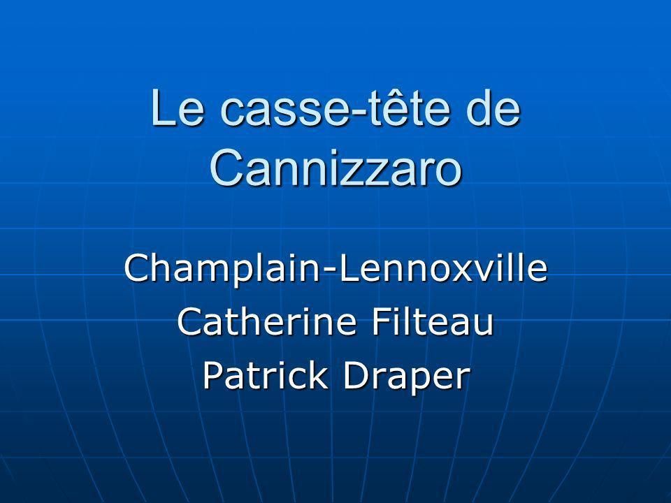 Le casse-tête de Cannizzaro