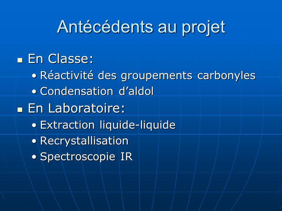 Antécédents au projet En Classe: En Laboratoire: