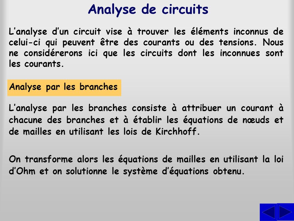 Analyse de circuits