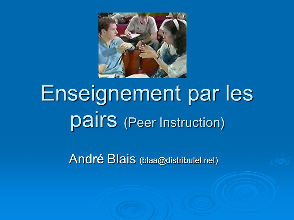 Enseignement par les pairs (Peer Instruction)