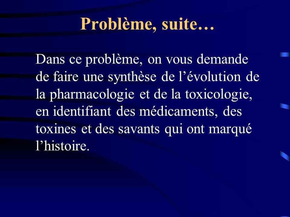 Problème, suite…