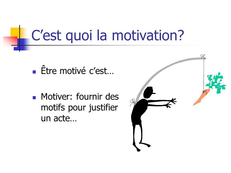 C'est quoi la motivation
