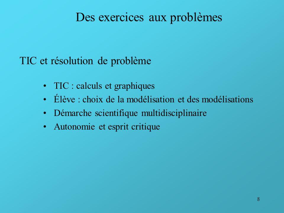 Des exercices aux problèmes