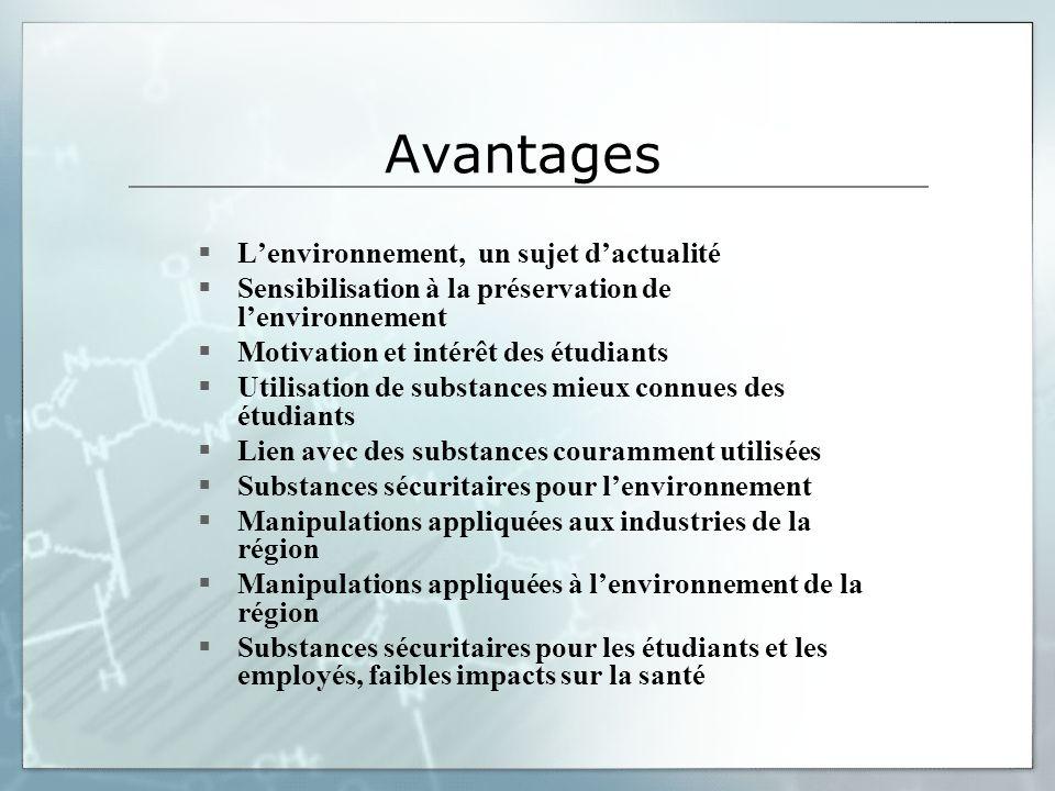 Avantages L'environnement, un sujet d'actualité