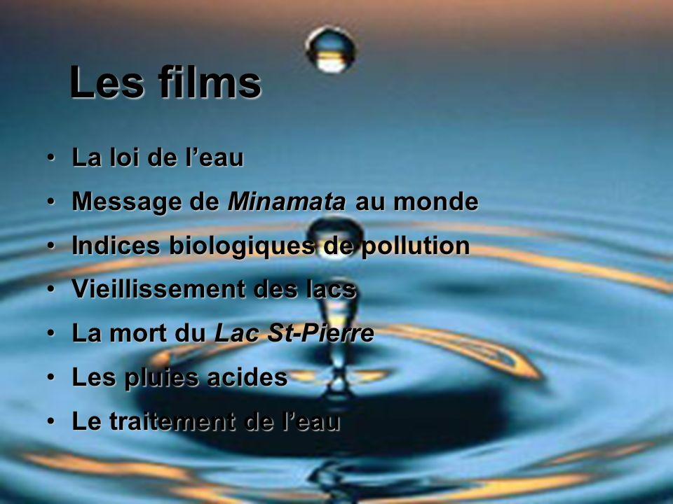 Les films La loi de l'eau Message de Minamata au monde