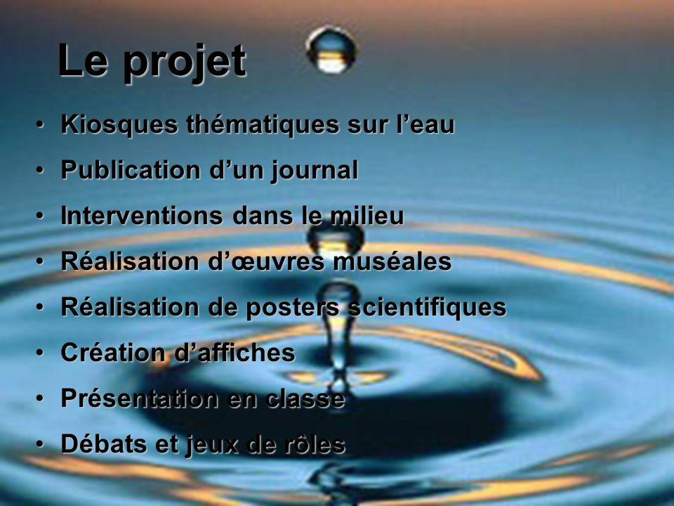 Le projet Kiosques thématiques sur l'eau Publication d'un journal