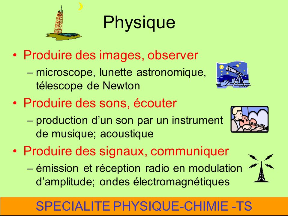 SPECIALITE PHYSIQUE-CHIMIE -TS