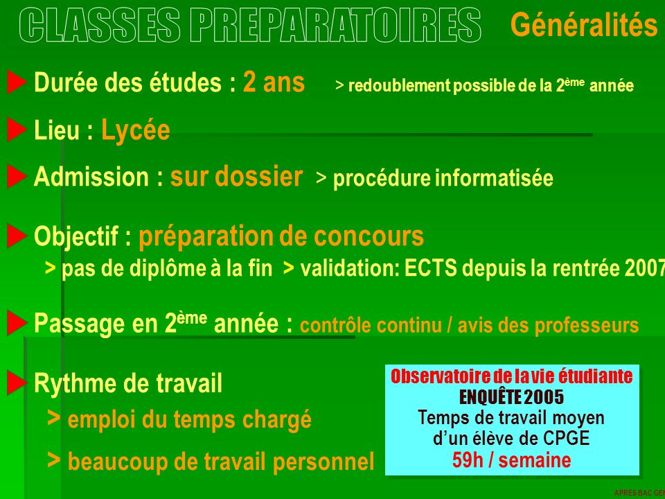 CLASSES PREPARATOIRES