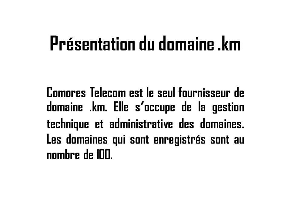 Présentation du domaine .km