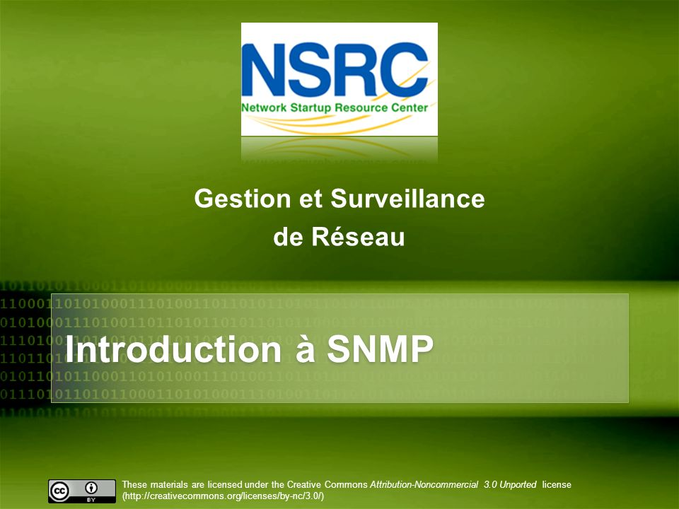 Gestion et Surveillance