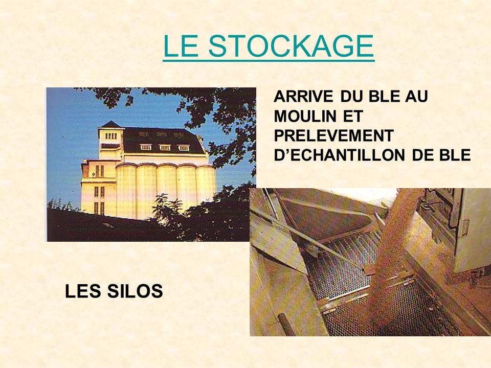 LE STOCKAGE ARRIVE DU BLE AU MOULIN ET PRELEVEMENT D'ECHANTILLON DE BLE LES SILOS