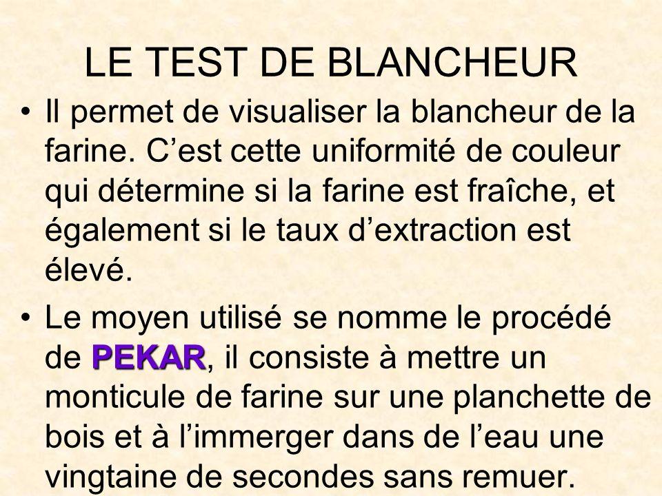 LE TEST DE BLANCHEUR