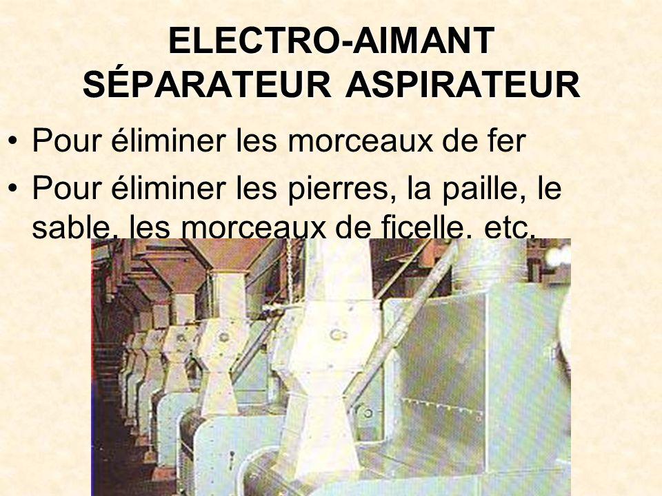 ELECTRO-AIMANT SÉPARATEUR ASPIRATEUR