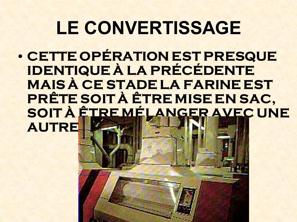 LE CONVERTISSAGE