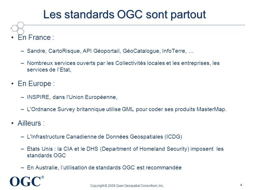 Les standards OGC sont partout