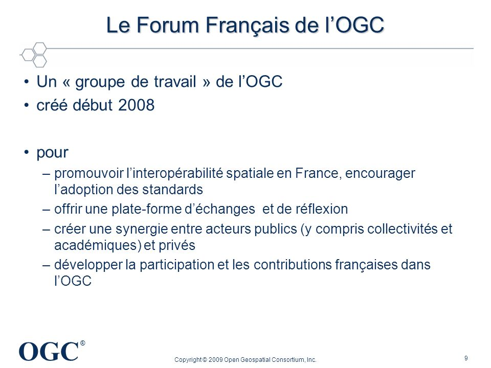 Le Forum Français de l'OGC