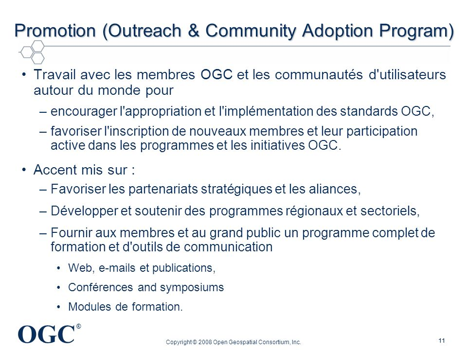 Promotion (Outreach & Community Adoption Program)
