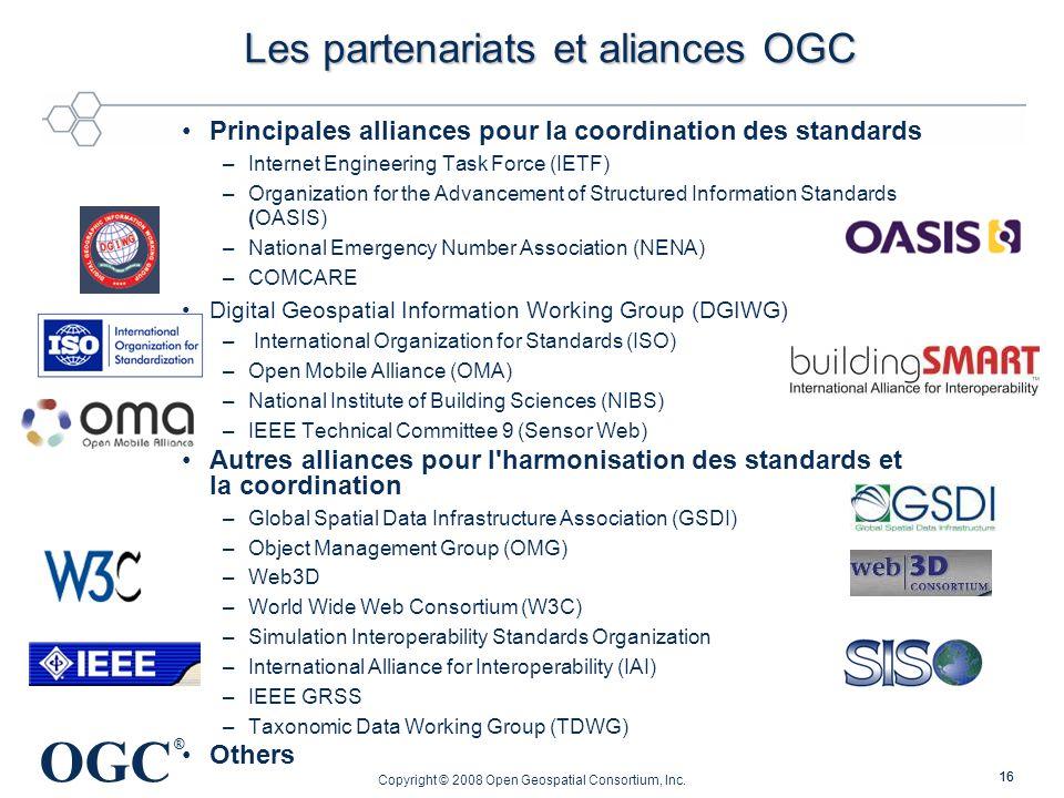 Les partenariats et aliances OGC