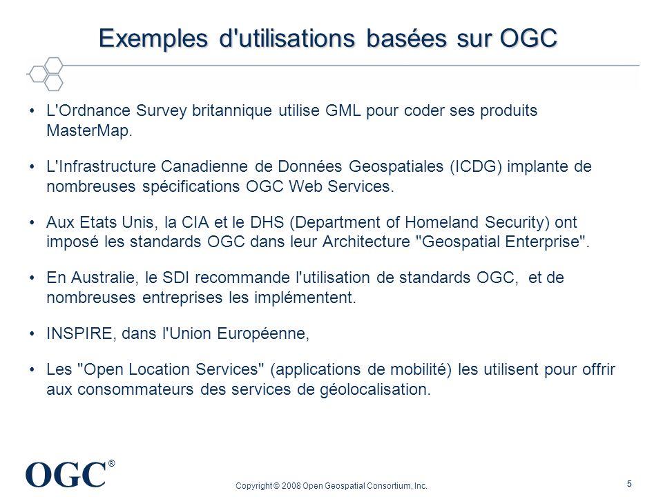 Exemples d utilisations basées sur OGC