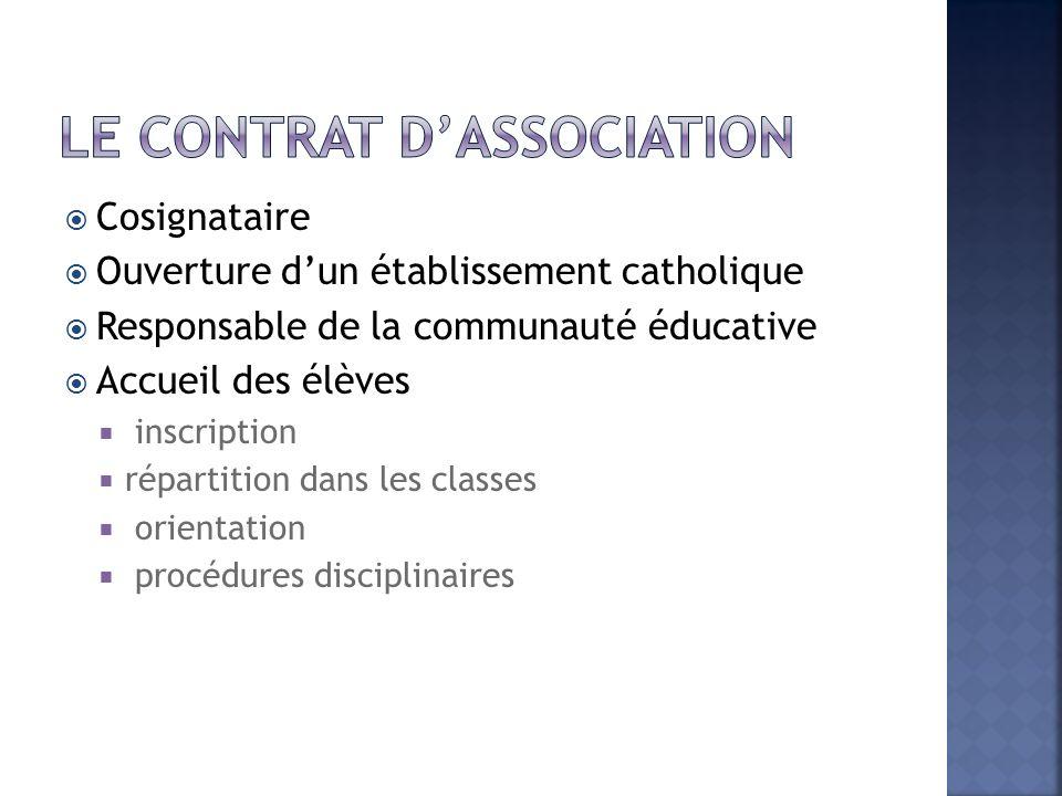 Le contrat d'association