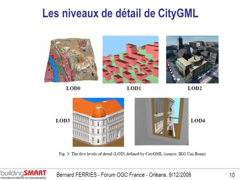 Les niveaux de détail de CityGML