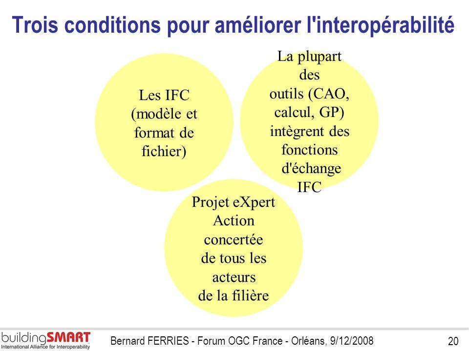 Trois conditions pour améliorer l interopérabilité