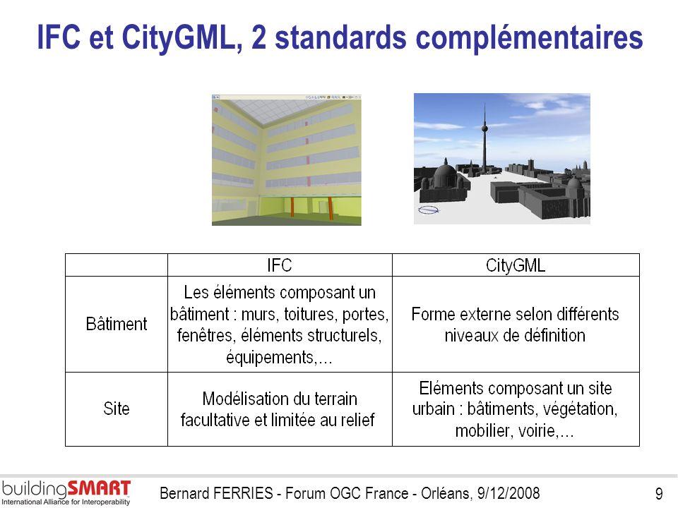 IFC et CityGML, 2 standards complémentaires
