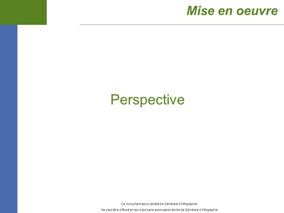 Perspective Mise en oeuvre