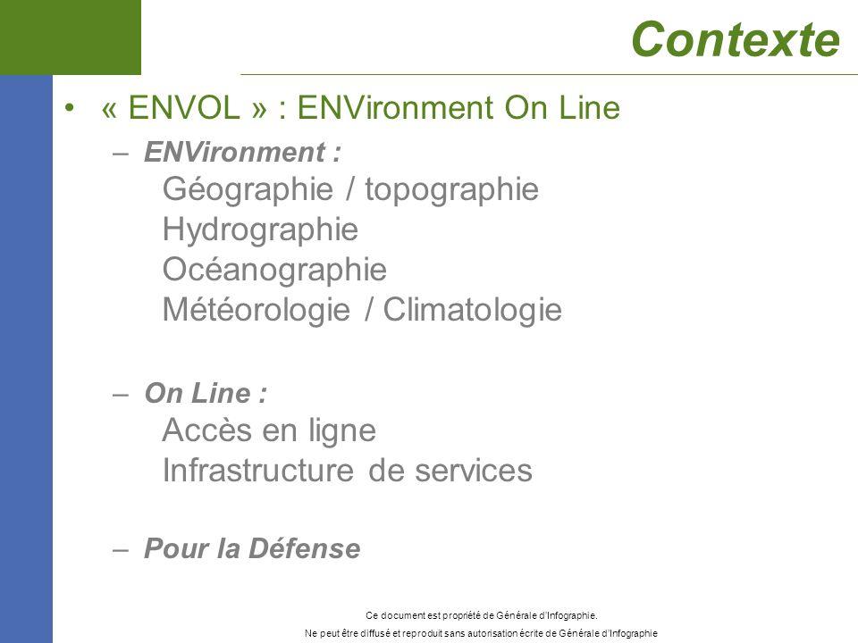 Contexte « ENVOL » : ENVironment On Line Géographie / topographie