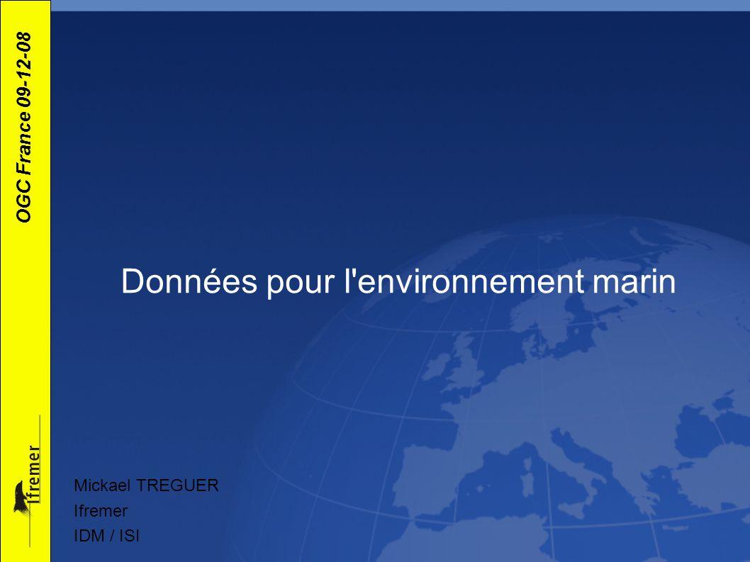 Données pour l environnement marin