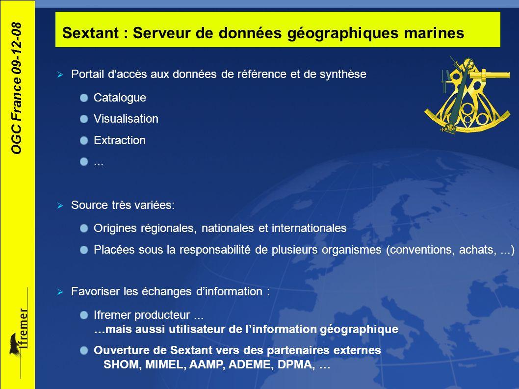 Sextant : Serveur de données géographiques marines