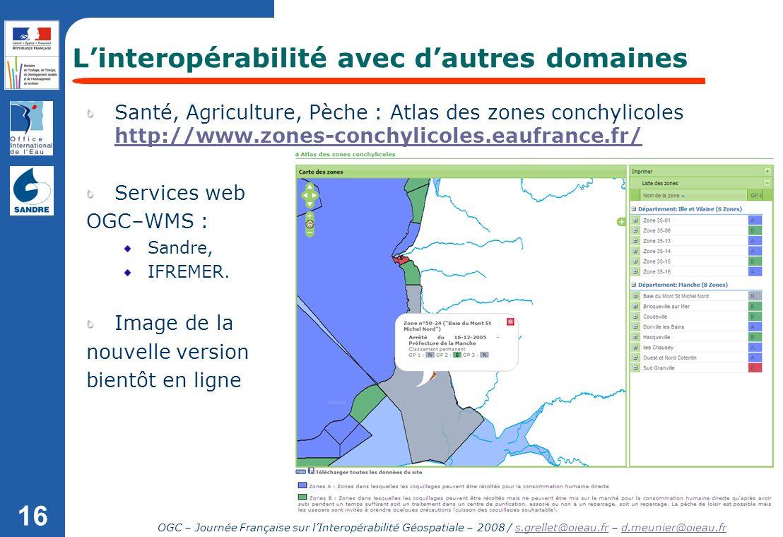 L'interopérabilité avec d'autres domaines