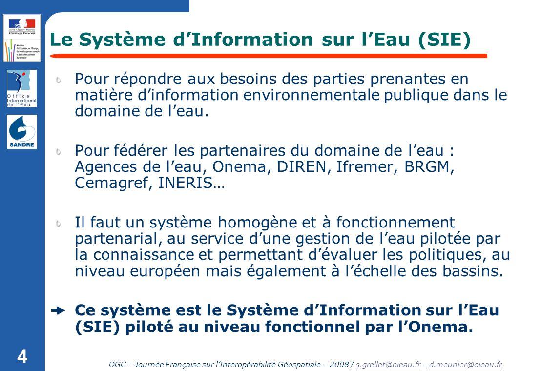 Le Système d'Information sur l'Eau (SIE)