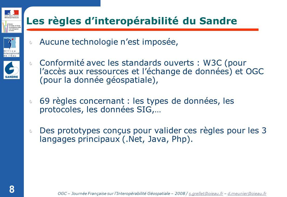Les règles d'interopérabilité du Sandre