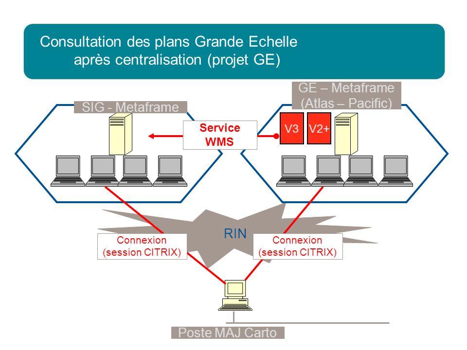 Consultation des plans Grande Echelle après centralisation (projet GE)