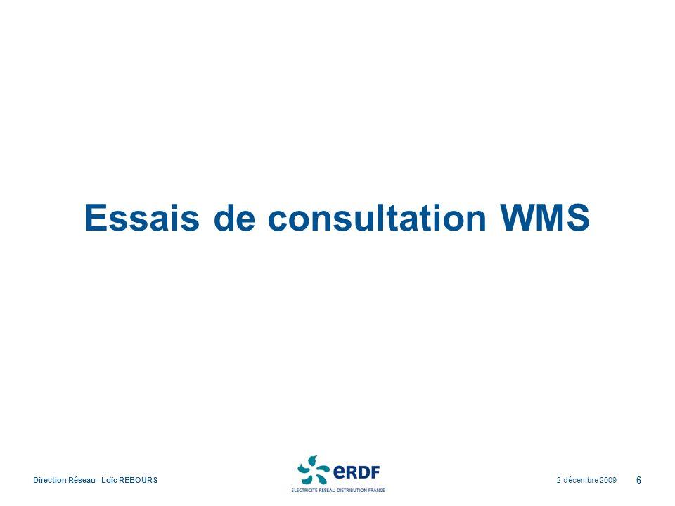 Essais de consultation WMS