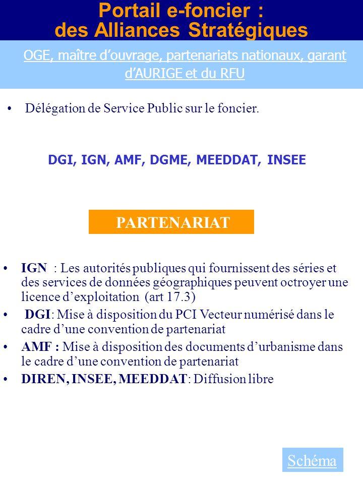 des Alliances Stratégiques DGI, IGN, AMF, DGME, MEEDDAT, INSEE