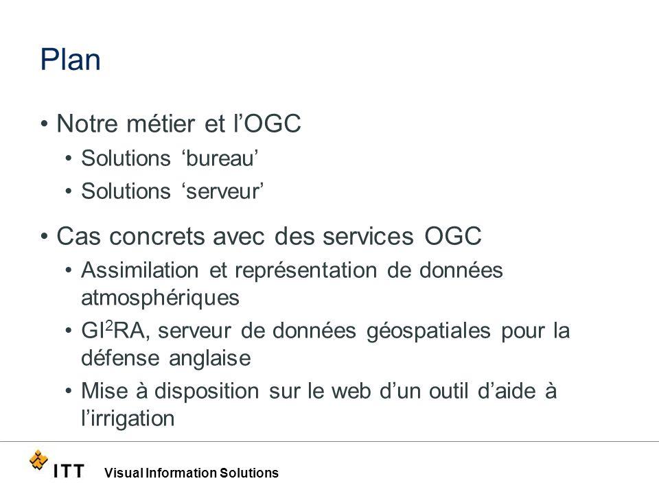 Plan Notre métier et l'OGC Cas concrets avec des services OGC