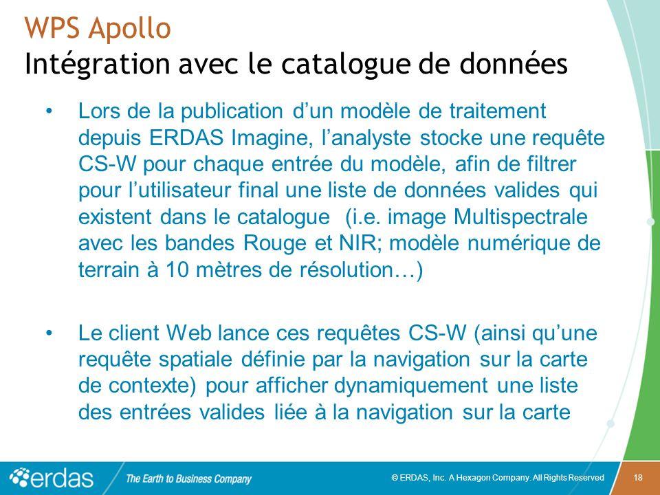 WPS Apollo Intégration avec le catalogue de données