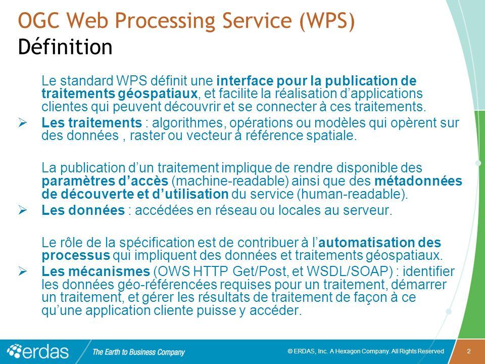OGC Web Processing Service (WPS) Définition
