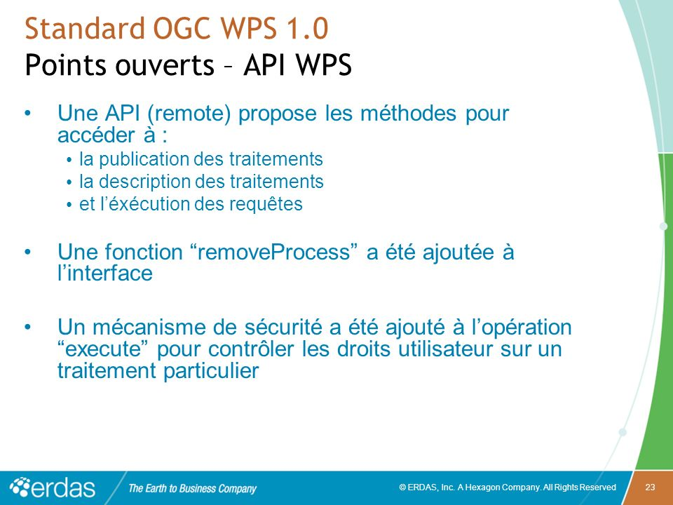 Standard OGC WPS 1.0 Points ouverts – API WPS