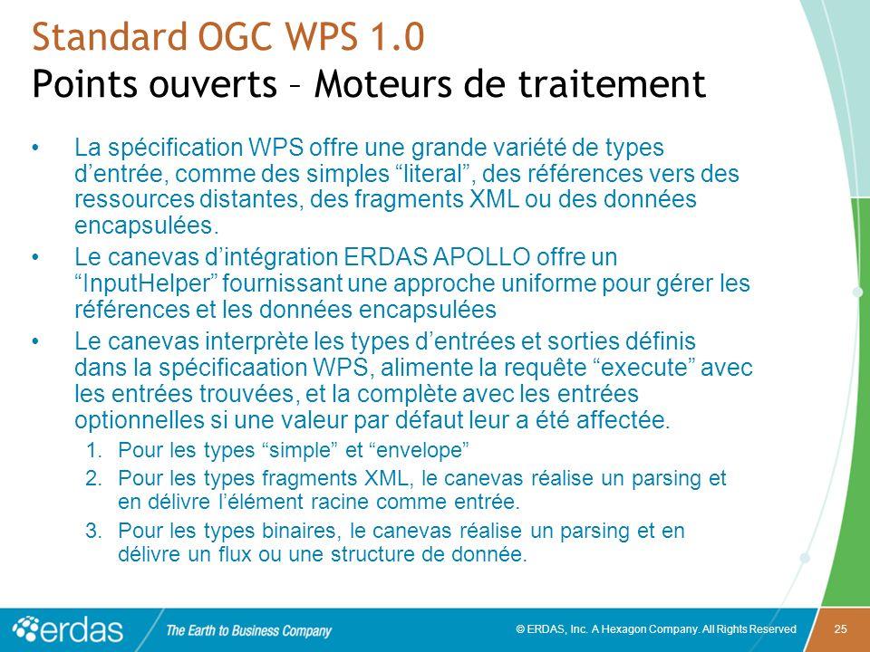 Standard OGC WPS 1.0 Points ouverts – Moteurs de traitement