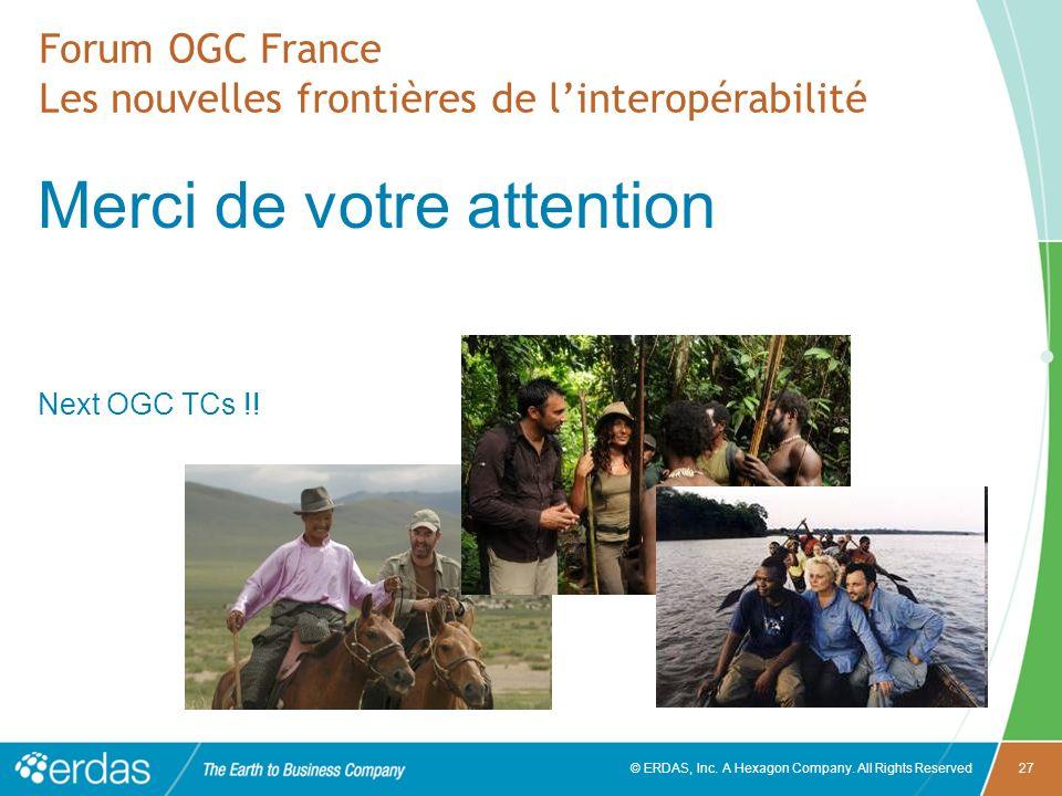 Forum OGC France Les nouvelles frontières de l'interopérabilité
