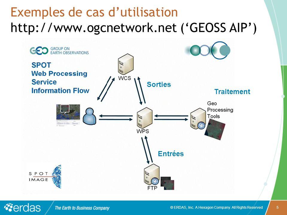Exemples de cas d'utilisation http://www.ogcnetwork.net ('GEOSS AIP')