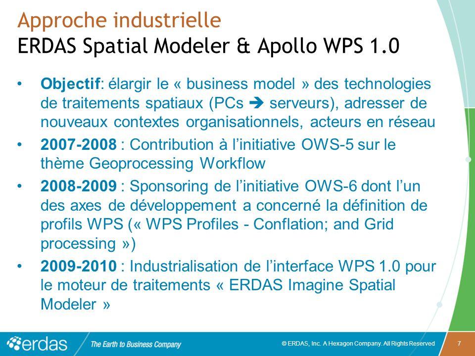 Approche industrielle ERDAS Spatial Modeler & Apollo WPS 1.0