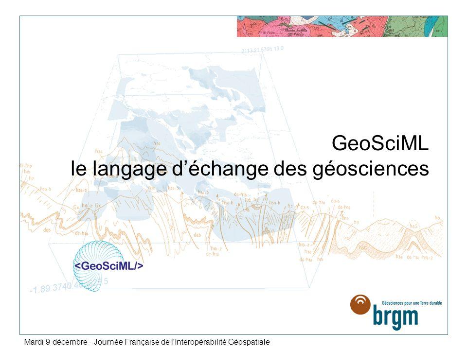GeoSciML le langage d'échange des géosciences