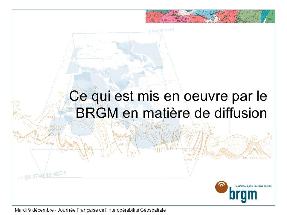 Ce qui est mis en oeuvre par le BRGM en matière de diffusion